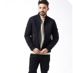 Bellfield • men's wario wool bomber jacket navy